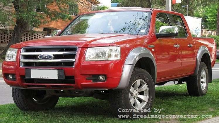 A Red Ford Ranger